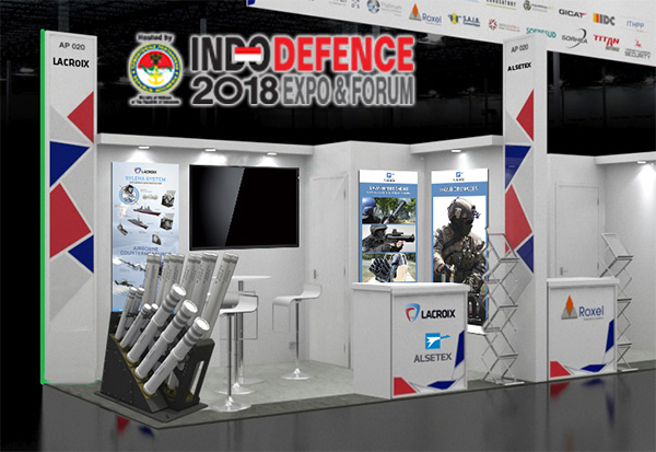 Lacroix showcases at Indodefence 2018