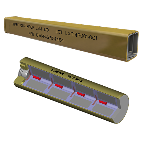 Lacroix Defense Fighters Countermeasures Chaff range cartridges